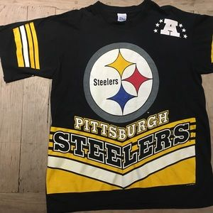 1995 Pittsburgh Steelers Vintage Crew Neck T Shirt